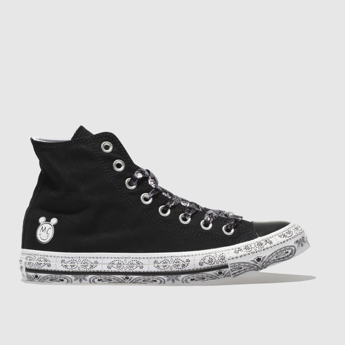 Converse Black & White All Star Miley Cyrus Hi Trainers