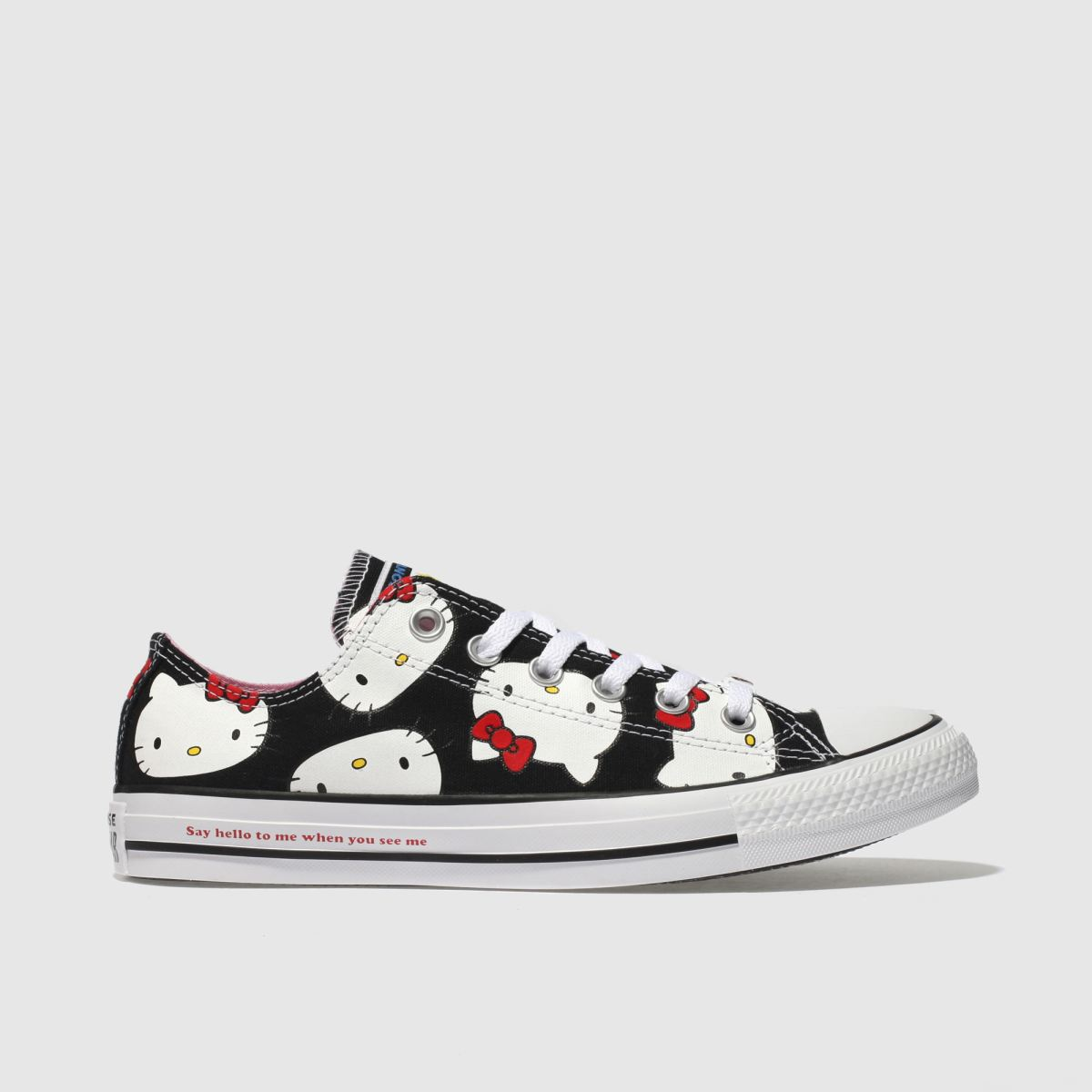 Converse Black & White All Star Hello Kitty Ox Trainers