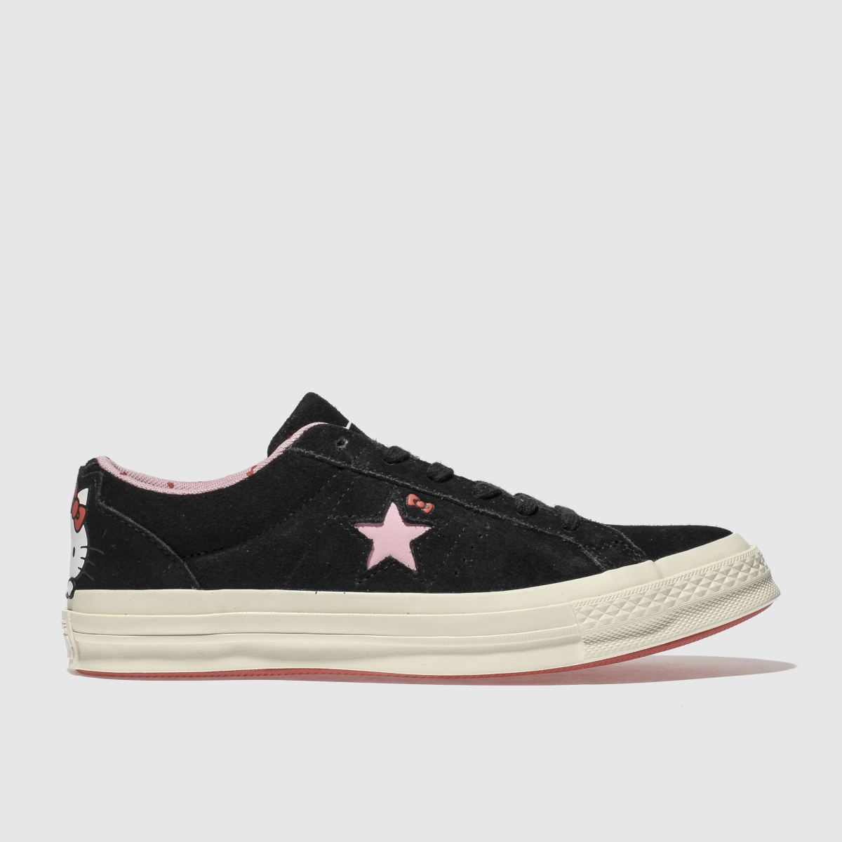 Converse Black One Star Hello Kitty Suede Trainers