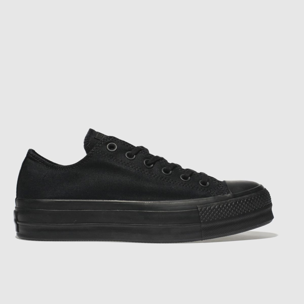 Converse Black Clean Lift Platform Trainers