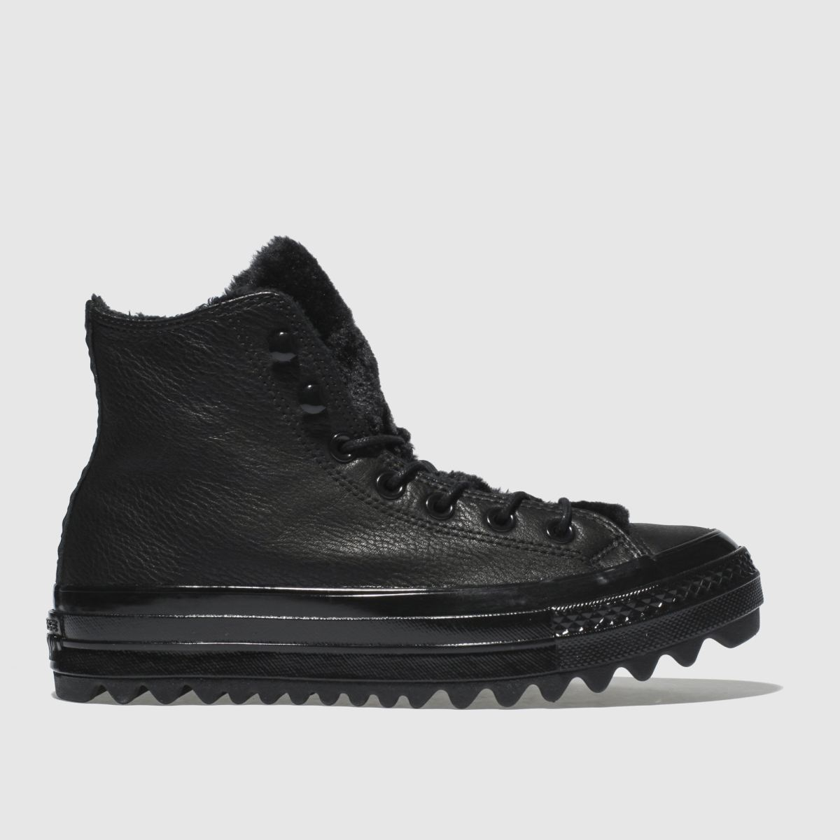 Converse Black All Star Lift Ripple Hi Trainers