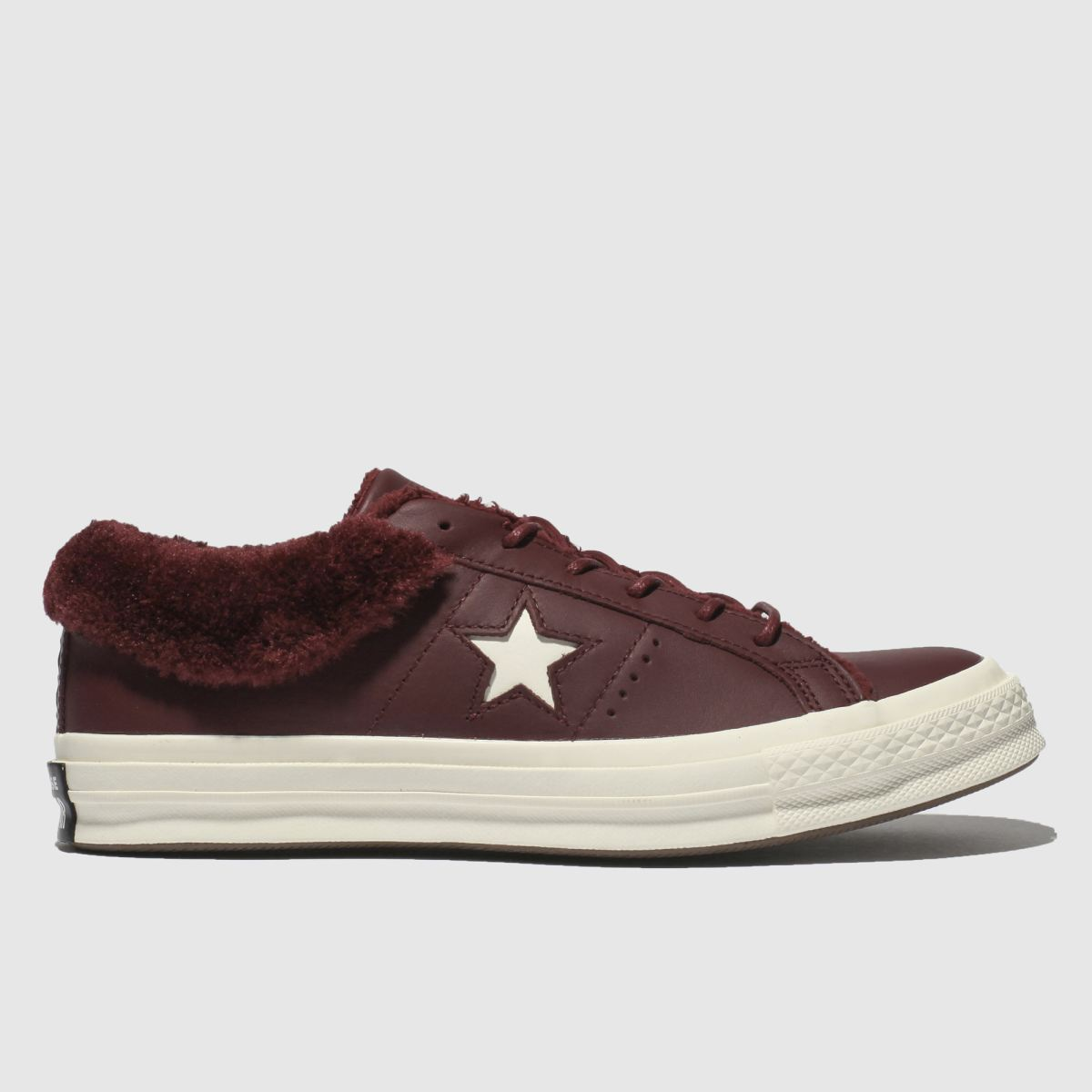 Converse Burgundy One Star Shearling Trainers