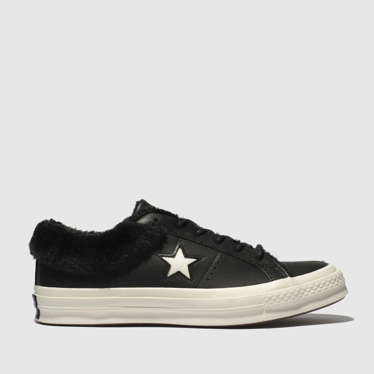 Converse Black & White One Star Shearling Trainers