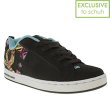 Black and blue Dc Shoes Court Graffik Iii