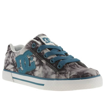 Womens Dc Shoes White & Blue Chelsea Trainers