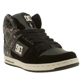 Womens Dc Shoes Black and blue Rebound Hi Se Trainers