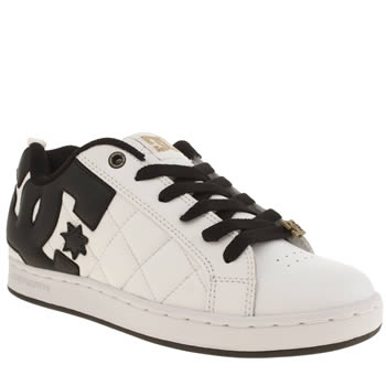 Womens Dc Shoes White & Black Quilted Alliance Trainers