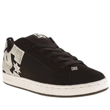 Womens Dc Shoes Black & Grey Court Graffik Se Iv Trainers