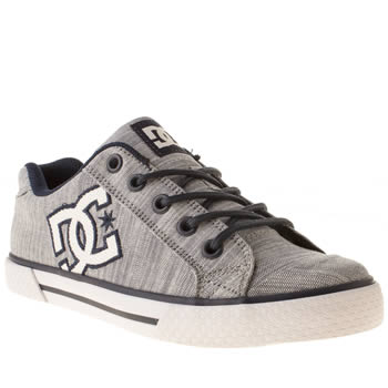 womens dc shoes navy & white chelsea ii tx se trainers