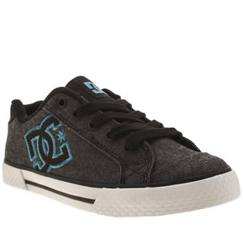 Womens Dc Shoes Dark Grey Chelsea Se Canvas Trainers