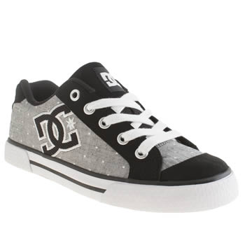 womens dc shoes grey & black chelsea trainers