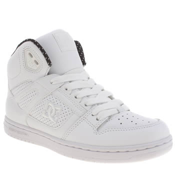 Womens Dc Shoes White & Black Rebound Hi Se Trainers
