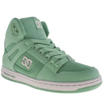 Womens Dc Shoes Turquoise Rebound Hi Ii Trainers