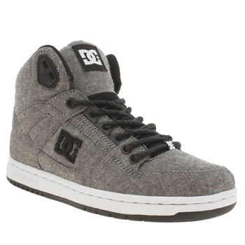 Womens Dc Shoes Grey & Black Rebound Hi Tx Se Trainers