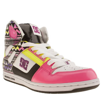 womens dc shoes multi rebound hi ii se trainers