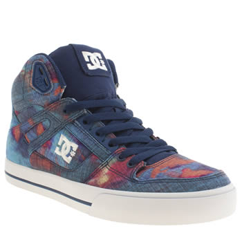 Dc Shoes Navy & Orange Spartan Hi Wc Tx Se Trainers