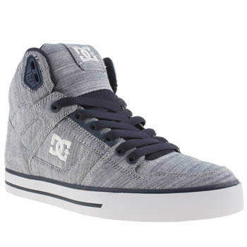 womens dc shoes navy & white spartan hi wc tx se trainers