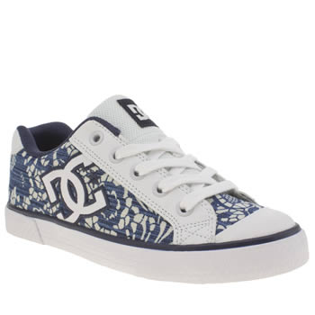 Dc Shoes White & Blue Chelsea Tx Se Trainers