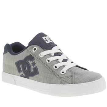 Womens Dc Shoes Grey & Navy Chelsea Trainers
