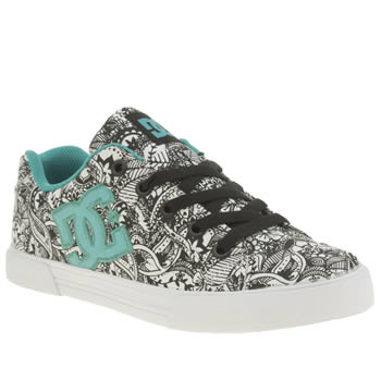 Womens Dc Shoes Black & White Chelsea Trainers