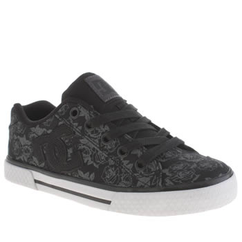 Dc Shoes Black & Silver Chelsea Tx Se Trainers