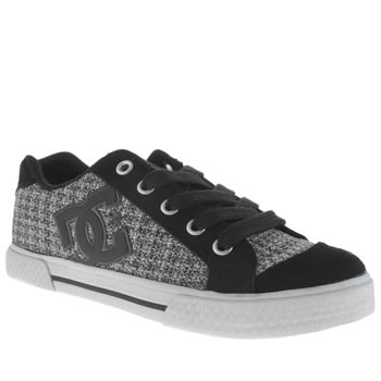 Womens Dc Shoes Black & White Chelsea Se Trainers
