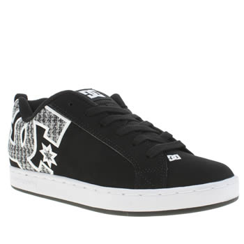 Womens Dc Shoes Black & White Court Graffik Se Trainers