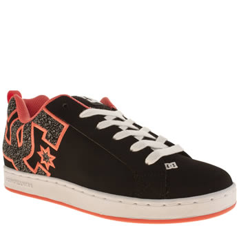 Womens Dc Shoes Black & pink Court Graffik Se Trainers