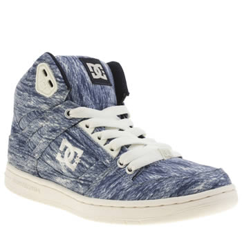 Womens Dc Shoes Navy Rebound High Tx Se Trainers