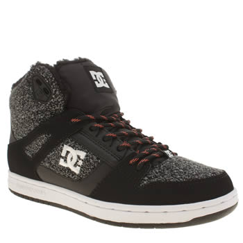 Womens Dc Shoes Black & Grey Rebound High Tx Se Trainers
