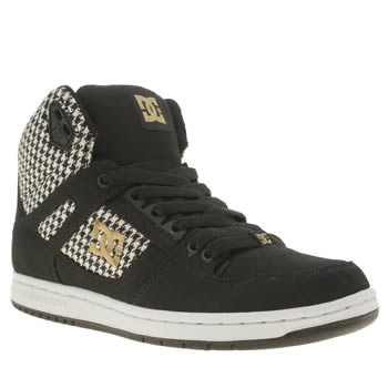 Womens Dc Shoes Black & White Rebound High Tx Se Trainers