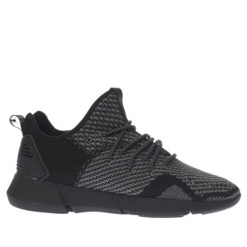 Cortica Black Infinity 2-5 Knit Trainers
