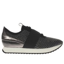 Cortica Black & White Racer Knit Womens Trainers