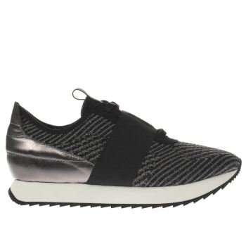 CORTICA BLACK & WHITE RACER KNIT TRAINERS