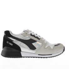 Diadora Black & Silver I.c. 4000 Hologram Womens Trainers