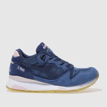 Diadora Navy & White V7000 Nyl Ii Womens Trainers
