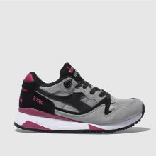 Diadora Grey & Black V7000 Nyl Ii Womens Trainers