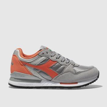 Diadora Grey Intrepid Nyl Womens Trainers