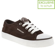Brown & White Dunlop Green Flash Lace Suede