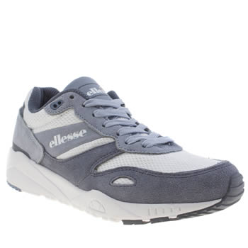 Ellesse White & Pl Blue Ls360 Womens Trainers