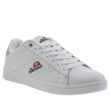 Ellesse White & Pink Anzia Trainers