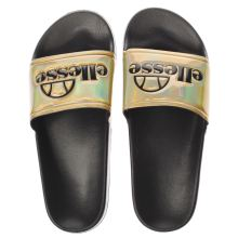 Ellesse Black & Gold Fillipo Womens Sandals