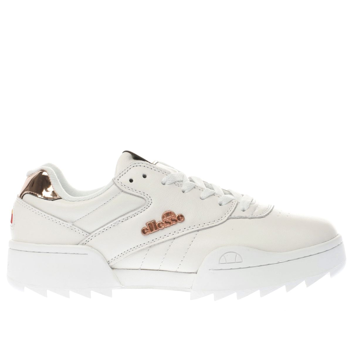ellesse white & gold plativo trainers