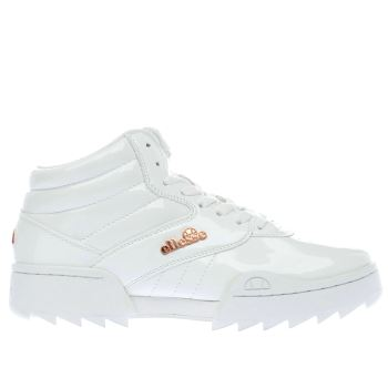 Ellesse White Plativo Mid Womens Trainers