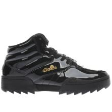Ellesse Black & Gold Plativo Mid Womens Trainers