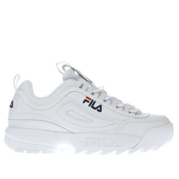 Fila White Disruptor Low Womens Trainers