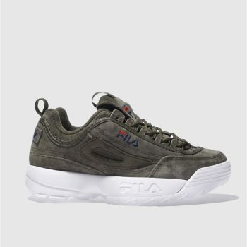 Fila Khaki Disruptor Low Womens Trainers