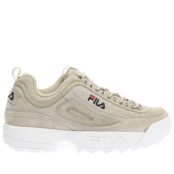 Fila Beige Disruptor Low Womens Trainers