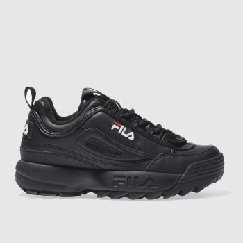 Fila Black Disruptor Low Womens Trainers