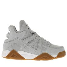 Fila Light Grey Cage Mid Womens Trainers